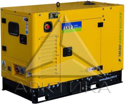 Дизельный генератор Aksa APD16A в кожухе