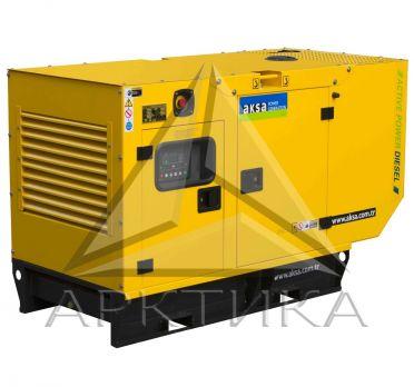 Дизельный генератор Aksa APD25A в кожухе с АВР