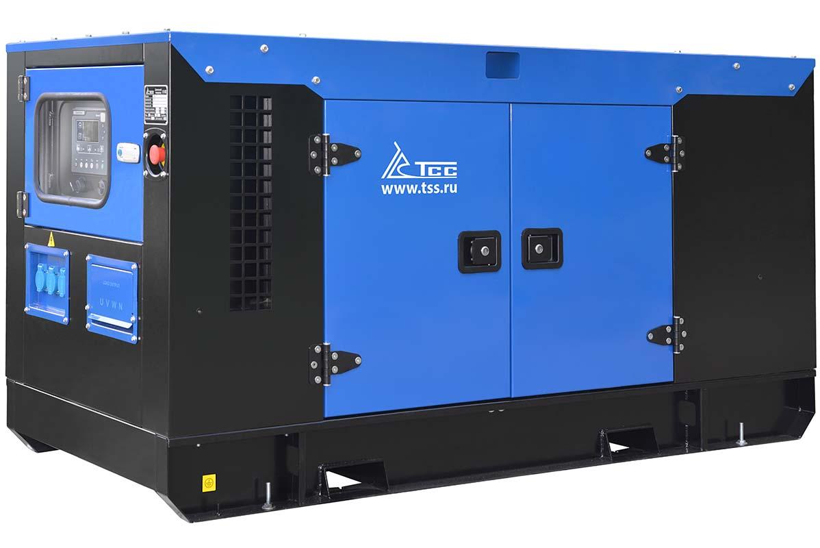 Дизельный генератор 200 кВт в кожухе ТСС АД-200С-Т400-1РКМ5 в шумозащитном кожухе