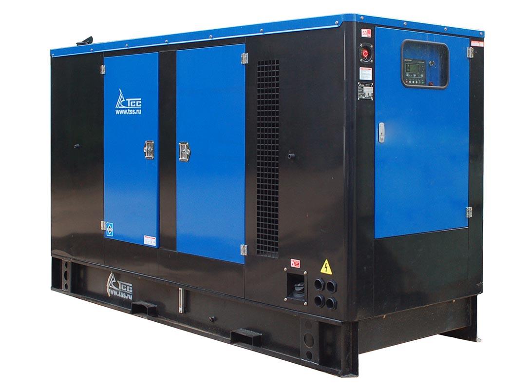 Дизельный генератор ТСС АД-100С-Т400 в шумозащитном кожухе с АВР