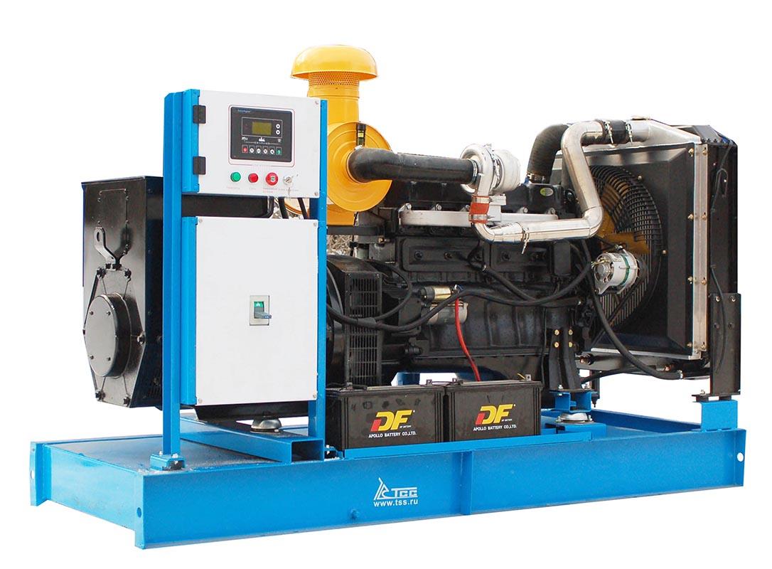 Дизельный генератор ТСС ЭД-150-Т400 с АВР в погодозащитном кожухе на прицепе