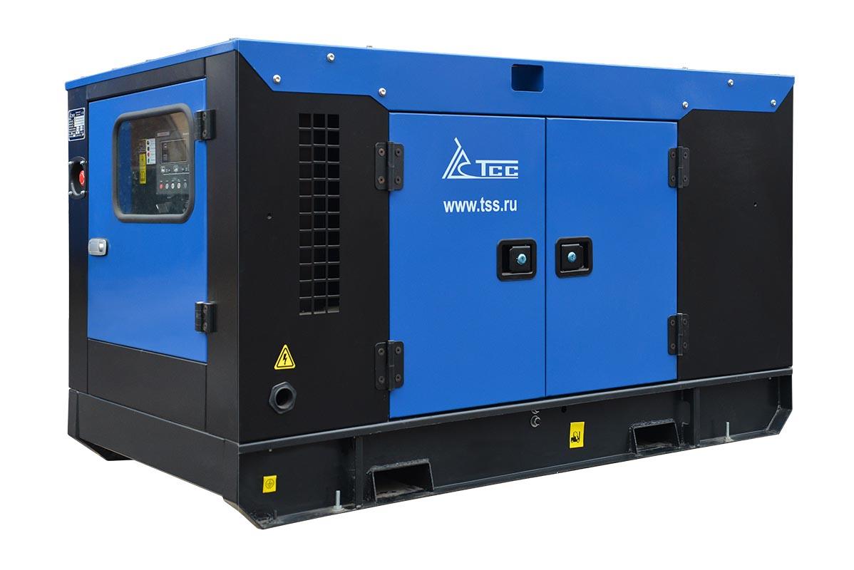Дизельный генератор ТСС ЭД-20-Т400 с АВР в шумозащитном кожухе на прицепе