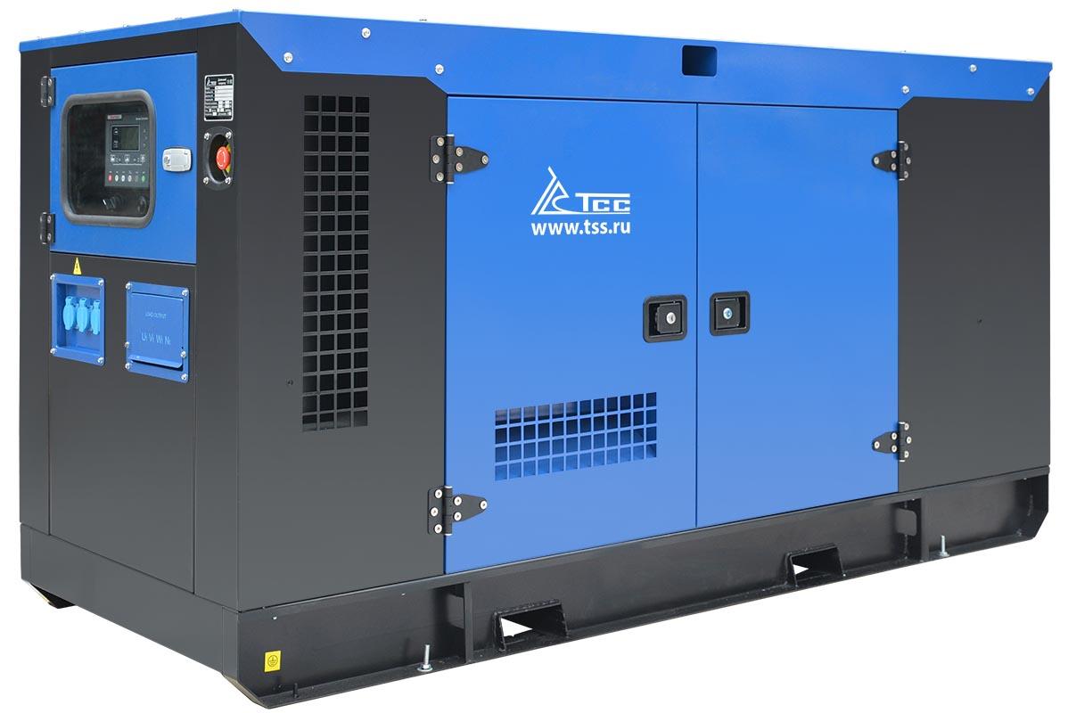 Дизельный генератор ТСС АД-30С-Т400 в шумозащитном кожухе с АВР