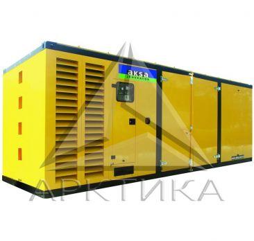 Дизельный генератор Aksa APD880M в кожухе с АВР